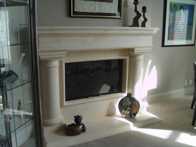 Scagliola Fireplace Mantel designed and created by Edin Maslo
