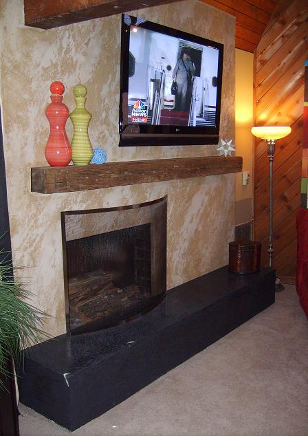 Marmorino Fireplace mantel