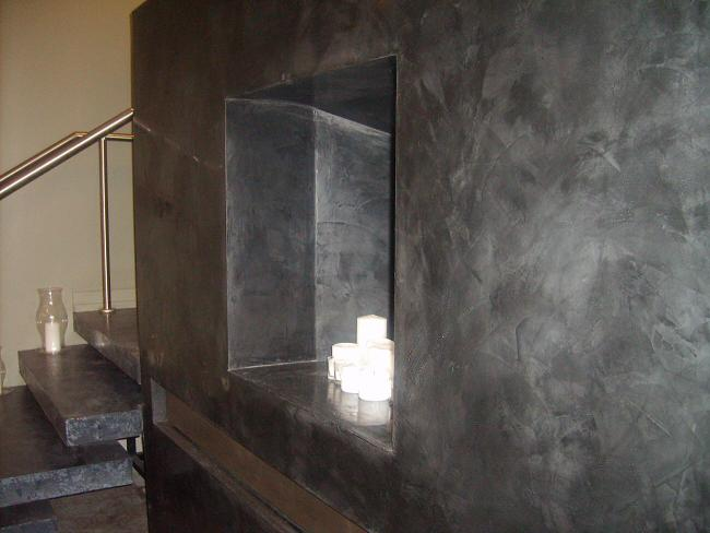 Plaza spa, Venetian Plaster and self supporting terazzo stairs