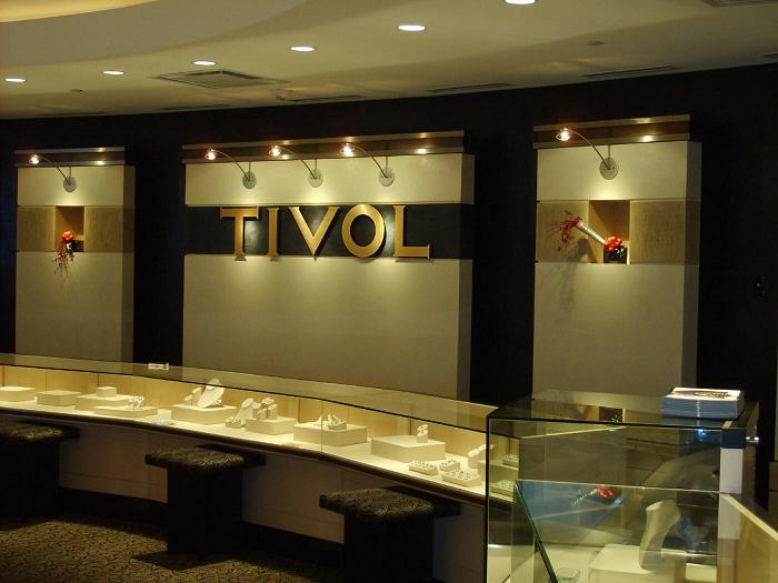 Tivol jewlery store (Plaza & Briarclif) Custom travertine, Marmorino and Venetian stucco